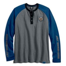 Playera Jersey Harley Davidson 115 Aniversario Azul Gris / J