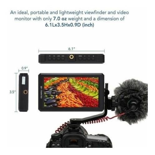 Monitor Feelword F6s 4k Dslr Canon Ronin Sony Com Bateria