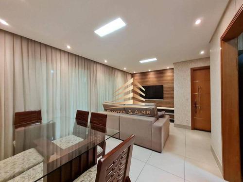 Imagem 1 de 30 de Apartamento No Condomínio Parque Clube, 92m², 3 Dormitórios, 1 Suíte, 2 Vagas. - Ap0831