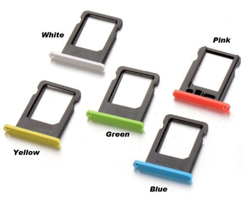 Bandeja Porta Sim iPhone 5c Colores | Garantía | Importado