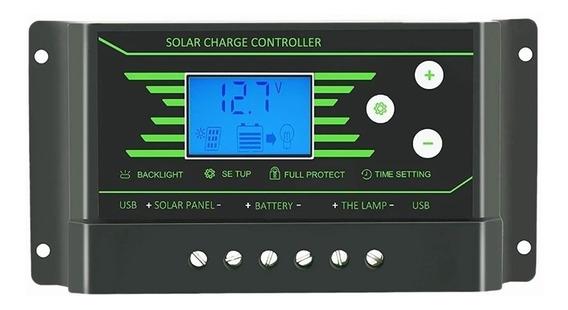 Controlador De Carga 30a Ajustável Lcd Back Light Z30