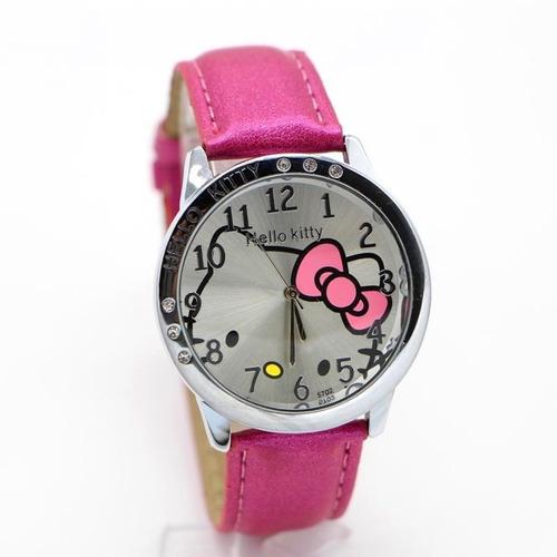 Hello Kitty Reloj Para Dama Rosado,blanco, Celeste, Negro