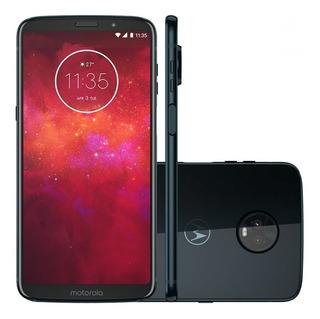 Smartphone Motorola Moto Z3 Play 64gb Indigo Tela 6 Câmera 1