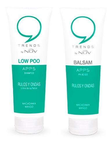 Imagen 1 de 1 de Shampoo + Acondicionador Nov Apps Rulos Y Ondas X 250 Ml