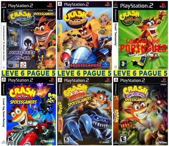 Crash Bandicoot Ps2 Coleção ( 6 Dvds ) Patch Portugues Me