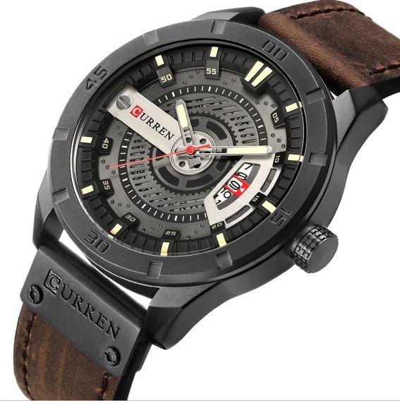 Reloj Curren 8301 Hombre Análogo Moda Casual Industrial Piel
