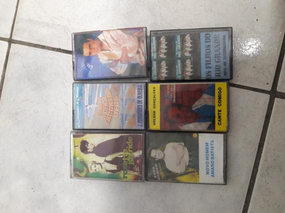 6 Fitas Cassetes K7 Usadas Genéricas Tipo: Ferro