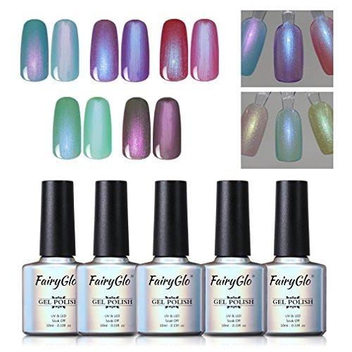 5 Unids Perla Nail Polish Gel Manicure Salon Decor 10 Ml