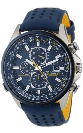 Relógio Citizen At8020-03l At8030 Blue Angels Eco-drive