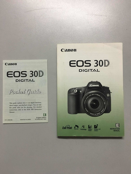 Manual De Instruções Canon Eos 30d