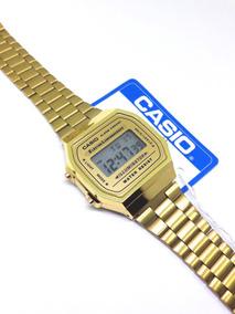 Reloj A168 Gold Dorado Clásico Moda Retro Dama Hombre A168d