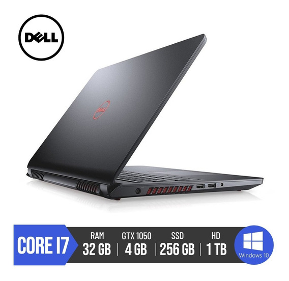 Notebook Dell Gamer 5577 Core I7 32gb Ram Geforce1050 Ti 4gb