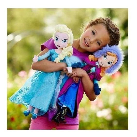 Bonecas Pelúcia Frozen Anna E Elsa Grande Pronta Entrega 87
