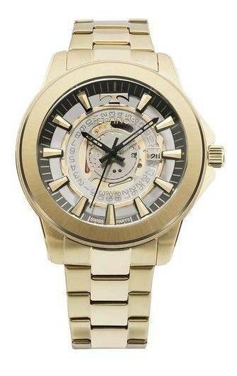 Relógio Technos Masculino Classic Suiço F06111aa/4w Dourado