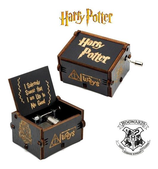 Caixinha Caixa De Música Harry Potter (manivela) Prime Preta