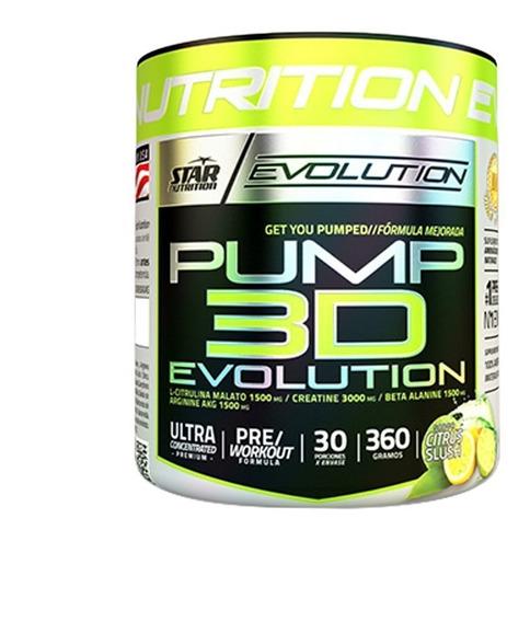 Pump 3d Star Nutrition X 360 Grs - Pre Entrenamiento