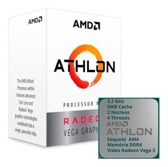 Processador Athlon 200ge 3.2ghz + Memória 8gb Ddr4 2666mhz