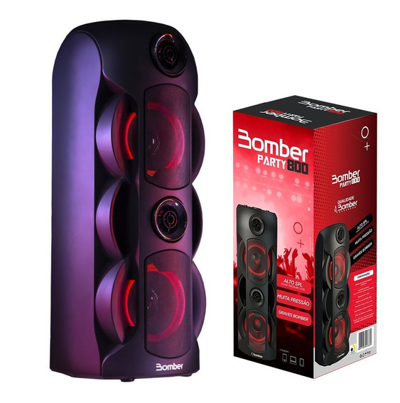 Caixa De Som Bluetooth Bomber Party 800 50w Portátil Usb