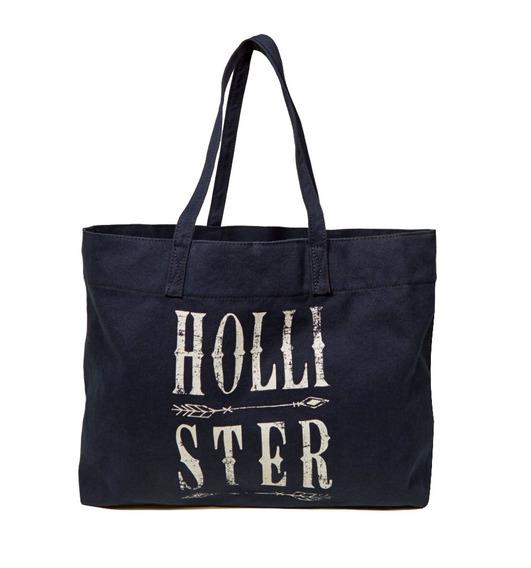 Bolsa Hollister By Abercrombie 100% Original Azul Escura