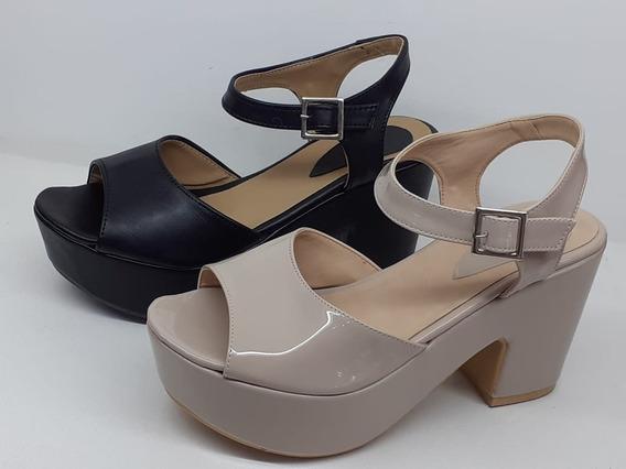 Sandalias Zapato Mujer Plataforma Taco. Lo Ultimo!!