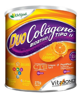 Duo Colágeno Bioativo Verisol 2 Em 1 Laranja 275g Katigua