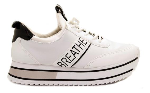Zapatillas Mujer Cuero Ecológico Charol Blanco Ramarim