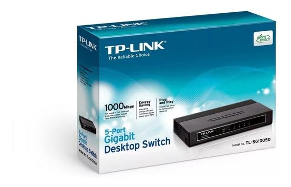 Switch Tl-sg1005d De 5 Puertos De 1.000 Mbps Veloz 30 Verdes