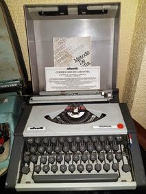 Máquina De Escrever Olivetti Tropical Original De Época