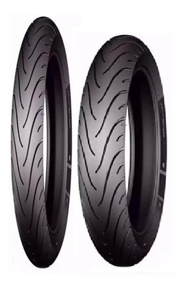Par Pneu 80/90-17 110/80-14 +largo Biz-pop100 Michelin Pilot