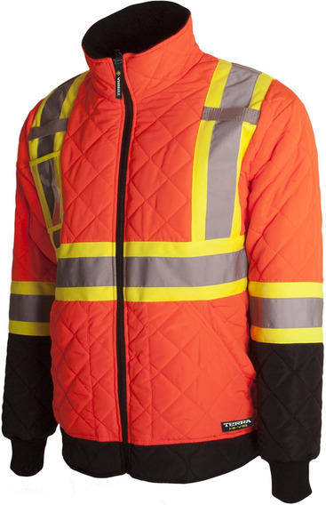 Terra 116505orxl High Visibility Quilted And Lined Reflectiv