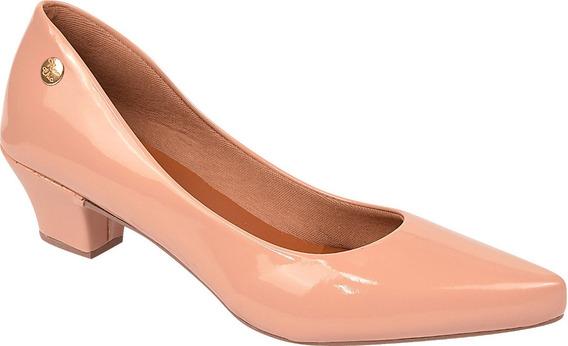 Sapato Feminino Scarpin Salto Baixo Rosa Chic Ref: 36.001