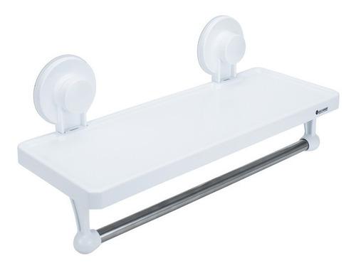 Imagen 1 de 1 de Repisa Organizadora Toallero Barra Ventosa