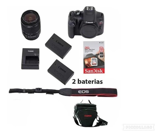 Canon Rebel T7i C/ 18-55mm +32gb + Bolsa + Bateria+nota