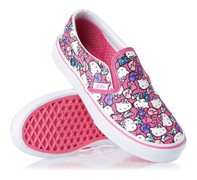 Tenis Vans Niña Infantil Hello Kitty Slip-on Rosa