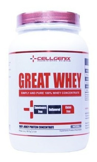 Great Whey 100% Concentrate 907g Natural - Cellgenix