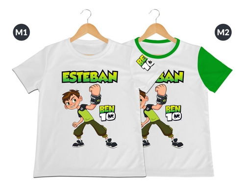 Camiseta Dama Caballero Ben 10 Ben10 Personalizada Algodon