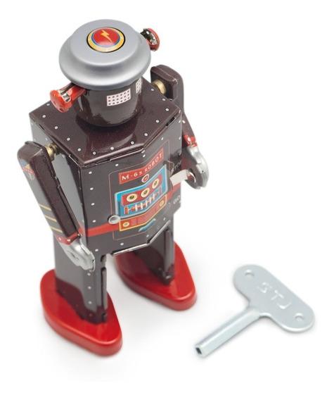 Robot A Cuerda De Hojalata Retro Tin Toy M-65 Gato