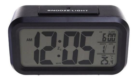 Relógio De Mesa Digital C/ Despertador Light Sensor Original