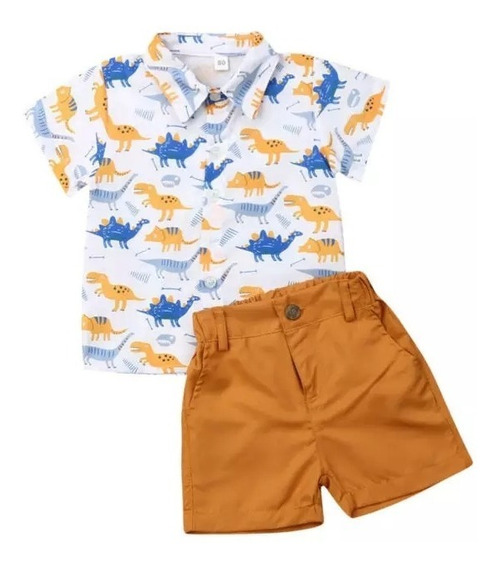 Conjunto Niño Shorts Camisa Dinosaurios Mod 4