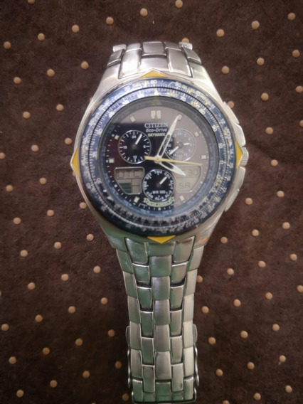 Relogio Citizen Eco Drive Blue Angels Jr3090 58m