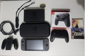 Nintendo Switch 32gb Preto Envio Imediato Estado De Zero