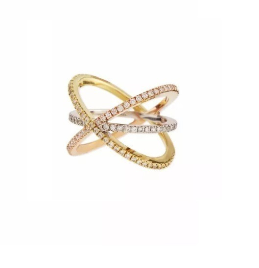 Anel De Dedo Ouro 18k + Mais Diamantes Naturais An126vivar