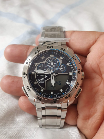 Relógio Citizen Eco-drive Tz10119f Promaster Super Cronograf