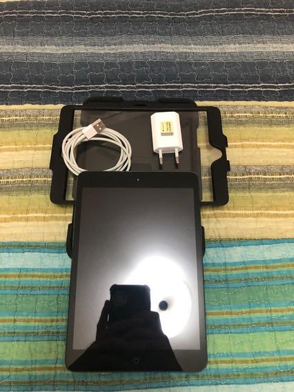 iPad Mini 16gb - Preto - Muito Novo - Capa Resistente - Cabo