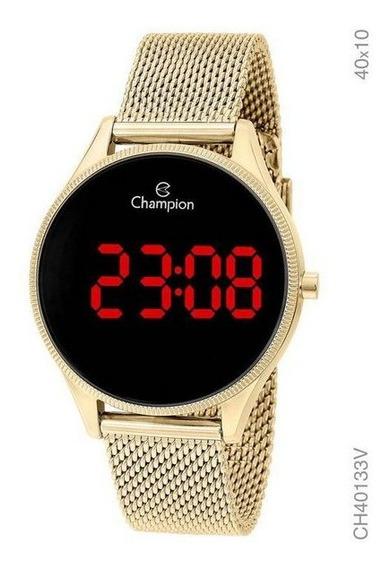 Relógio Champion Digital Feminino Dourado Ch40133v