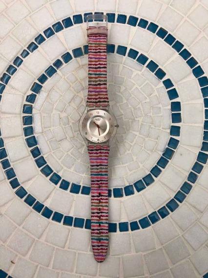 Relógio Swatch Skin Sliding Waves Sfp113 2008