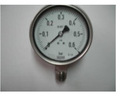 Manómetro Dial 4  Caja 316 Ss  1/2   Npt . 0-0,6 Bar,