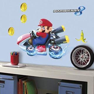 Compañeros Nintendo Mario Kart 8 Despegar Pegar Etiquetas