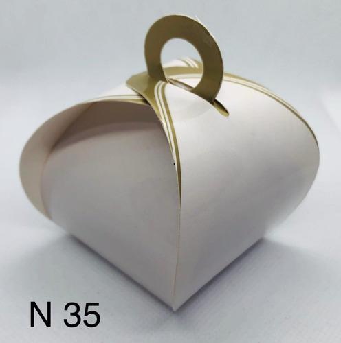 Imagem 1 de 11 de 120 Caixinhas Para Bem Casado Lembrancinha Francesinha Ouro