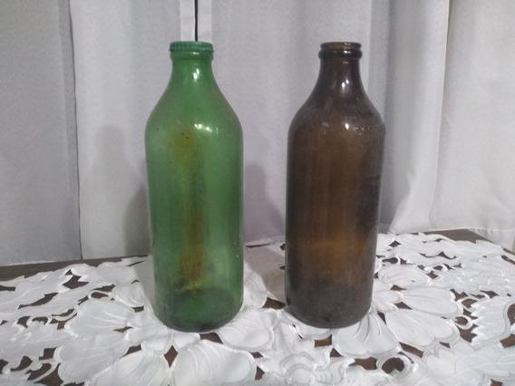 Botellas De Aceite Antiguas Envase De Vidrio De 1.5 Lts